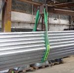 Levantamento de tubos com cintas de elevação de carga da Levtec